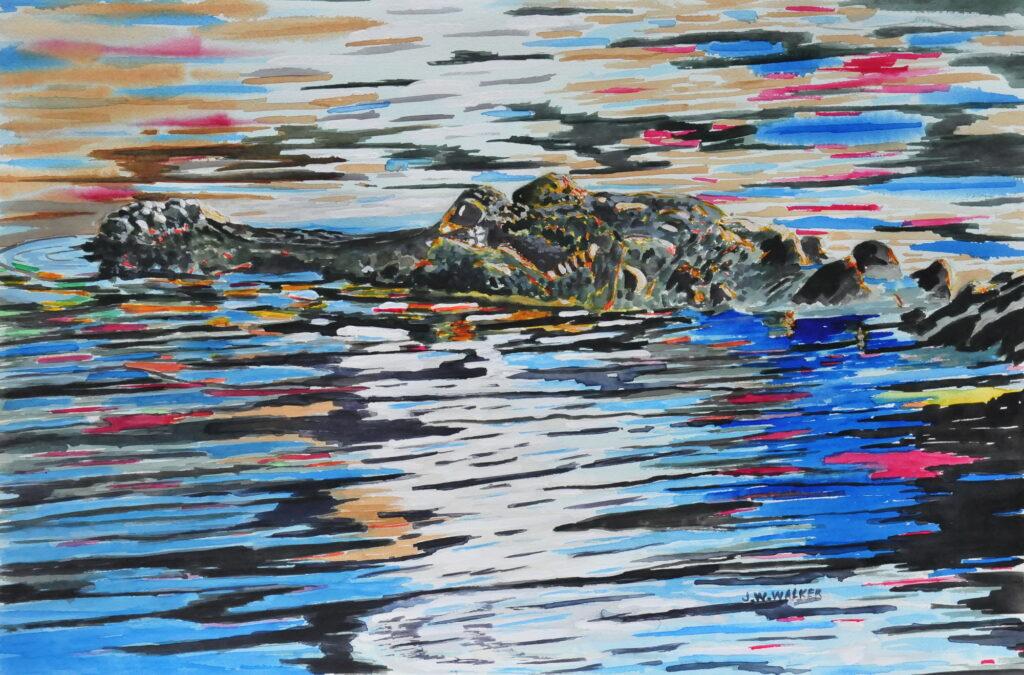 John W. Walker 23 Gator Watercolor $200
