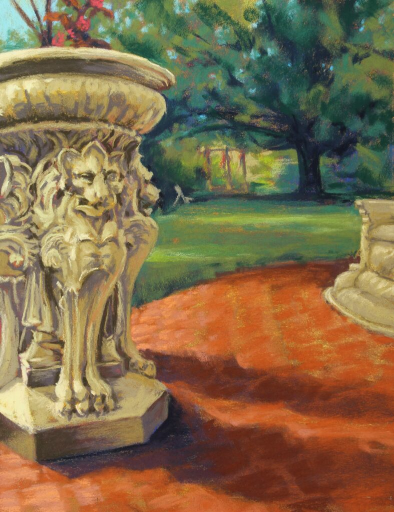 Mary Moores Artist Number #31 Watching over the Warehime Myers Gazebo other media $350