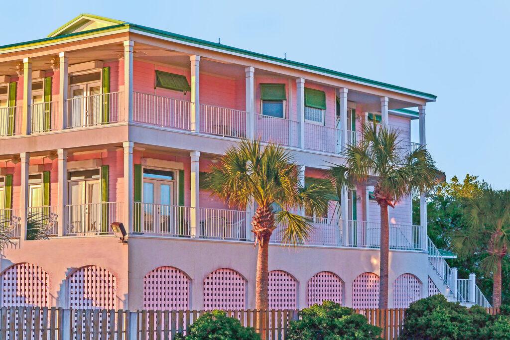 """Pink Beach House"" Lisa S. McLeod-Simmons Photography Photograph on metal $500"