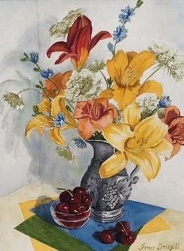 Fran Drisgill #174 Essence of Summer Watercolor $250