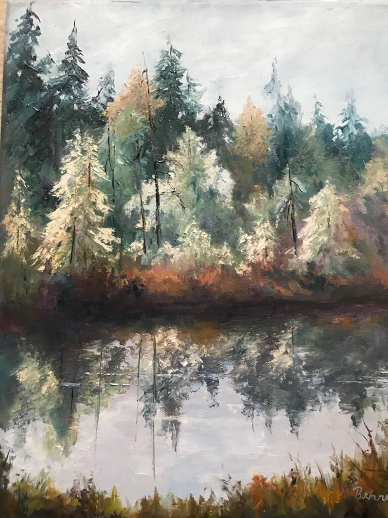 Sharon Benner #42 First Frost Oil $400.00