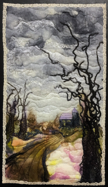 Joanne Bast artist #13 Winter Sky Three Dimensional Arts (wet felted and stitched wool) $400