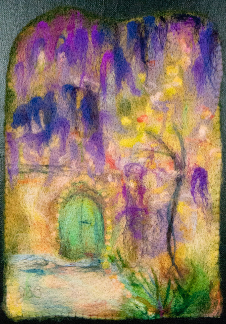 Joanne Bast artist #13 Wisteria Three Dimensional Arts (needlefelted wool) $375