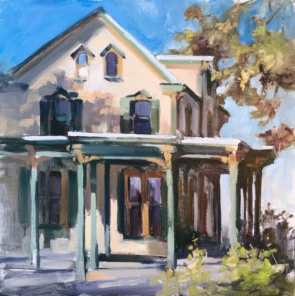 Julie Riker 403 Craigshead House Oil and acrylic painting $950