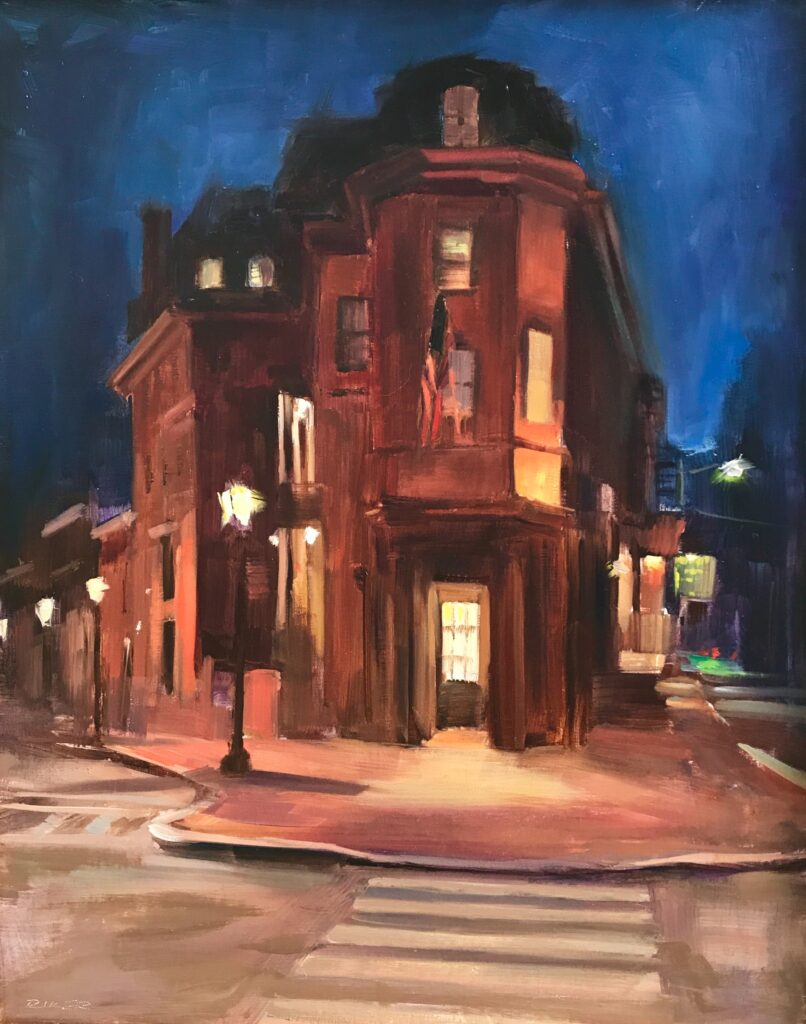 Julie Riker 403 Maryland Inn Oil and acrylic painting $1,400