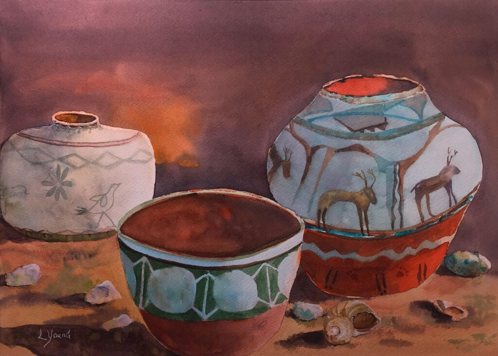 Linda Young, #322, From the Kiva, Watercolor $295
