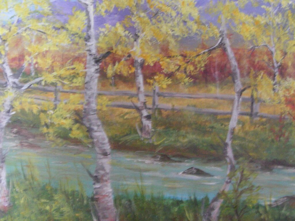 Maureen Crum Artist #75 Autumn Memories Acrylic $300.00