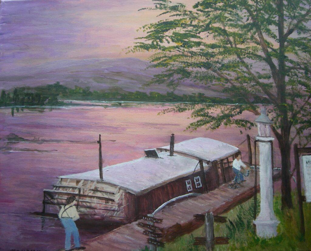 Maureen Crum  Artist #75 Millersburg Ferry Acrylic $300.00
