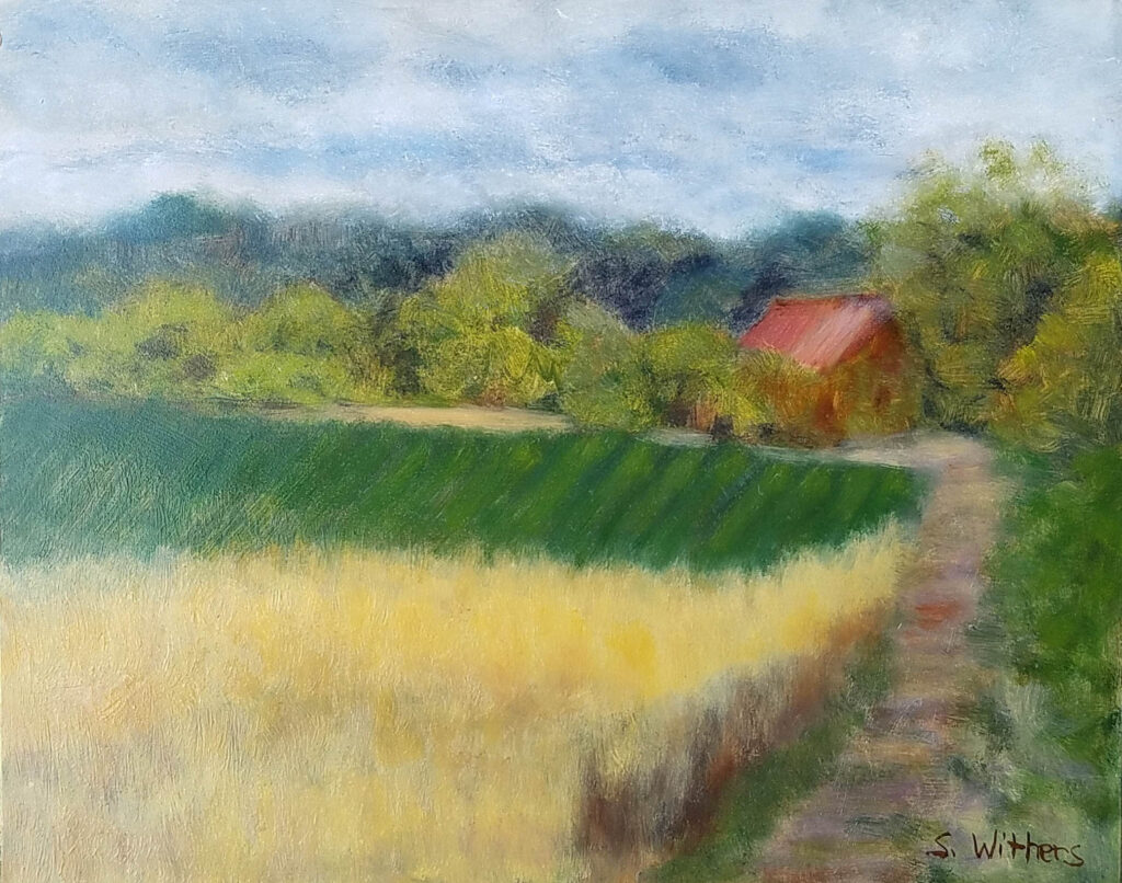 Sherry Withers #265 Gettysburg Wheatfield Oil $75