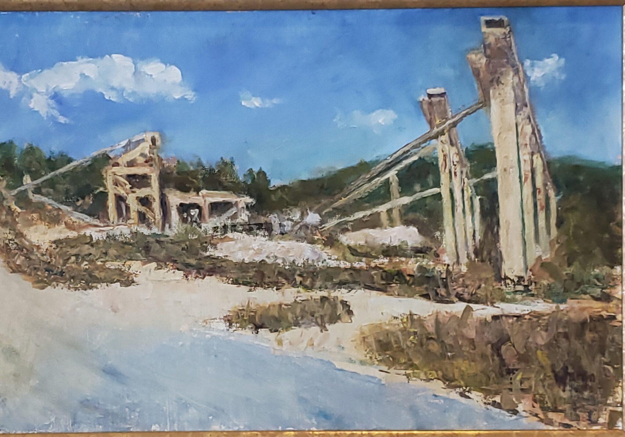 "Edward Wargo  # 393 ""Black Rock Quarry"" $300"