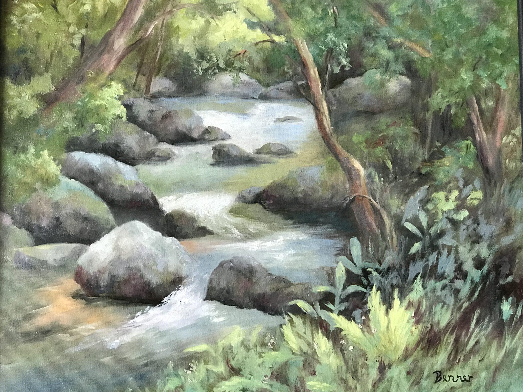 """Sharon Benner #42 """"Rushing Waters"""" $325.00"""