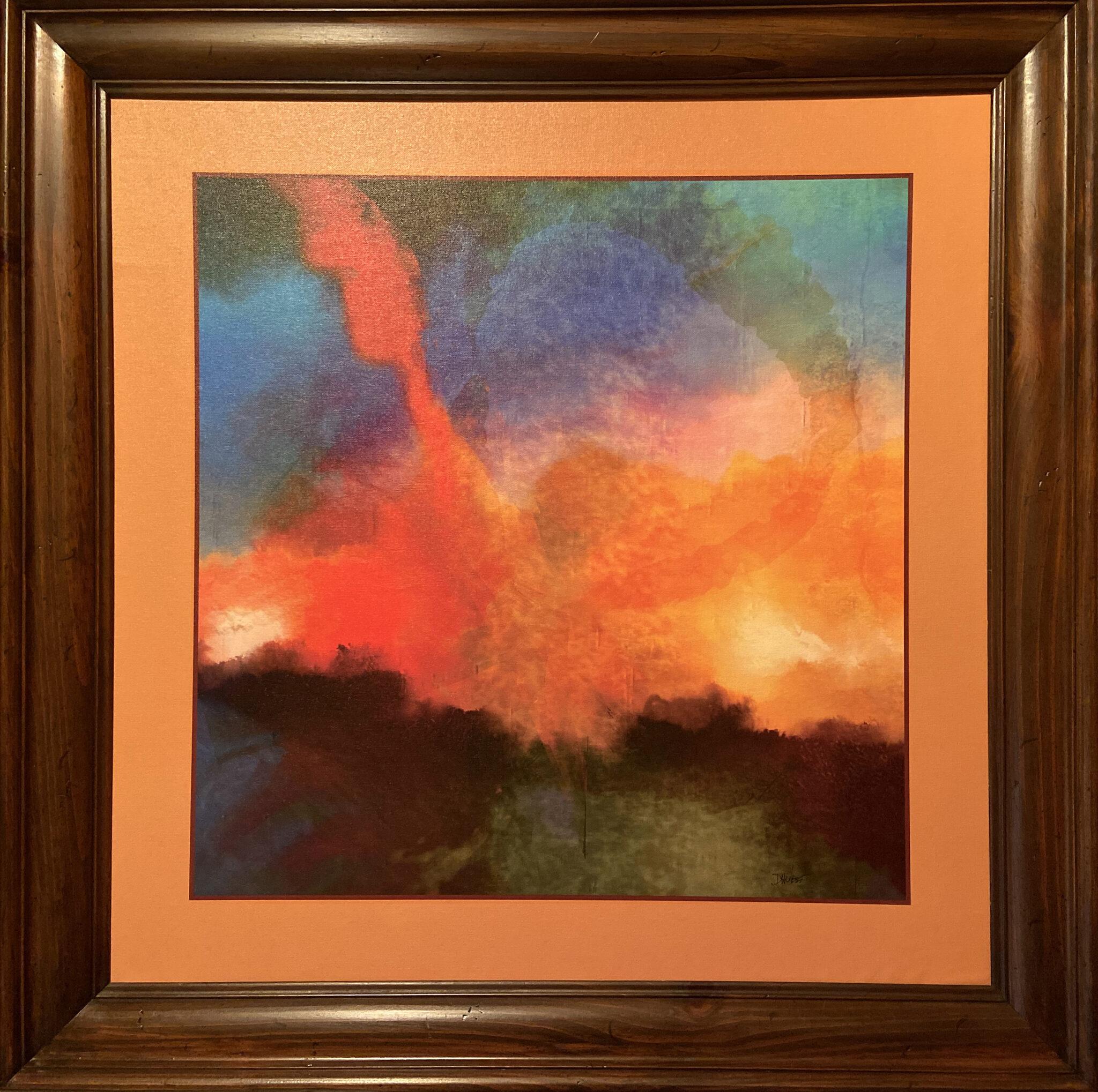 "Douglas West #203 ""Atlas Rising"" $700.00"