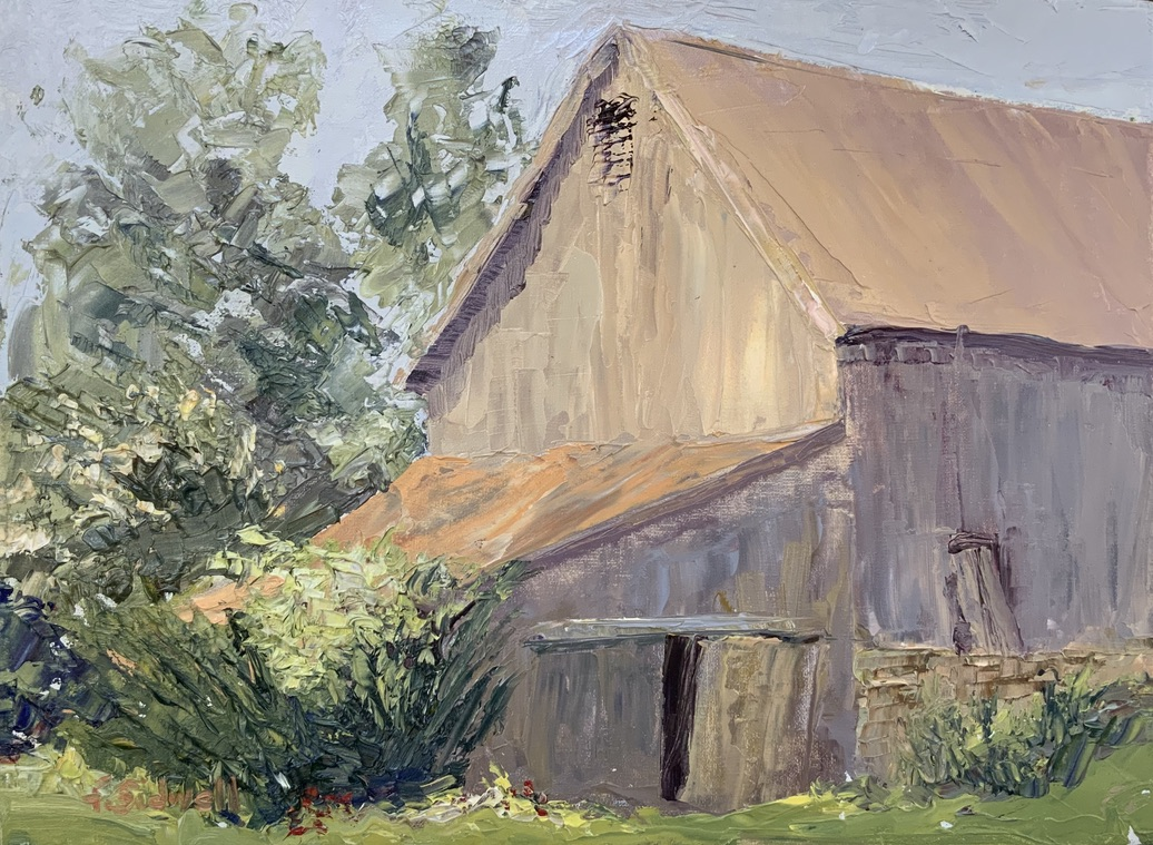 """Felicity Sidwell #127 """"The New Roof"""" $325.00"""