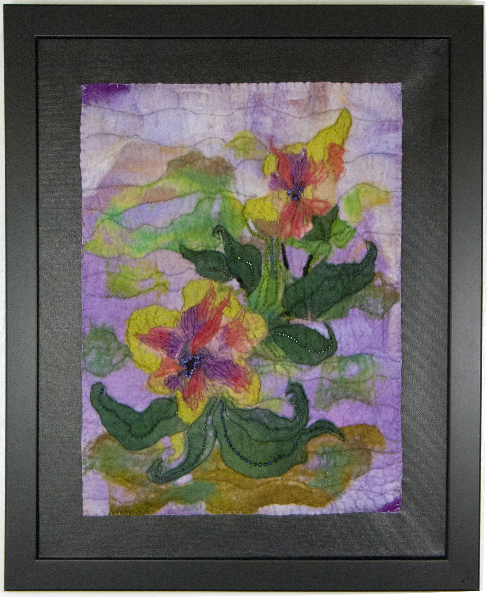 "Joanne Strehle Bast #13 ""Purple Floral"" $400.00"