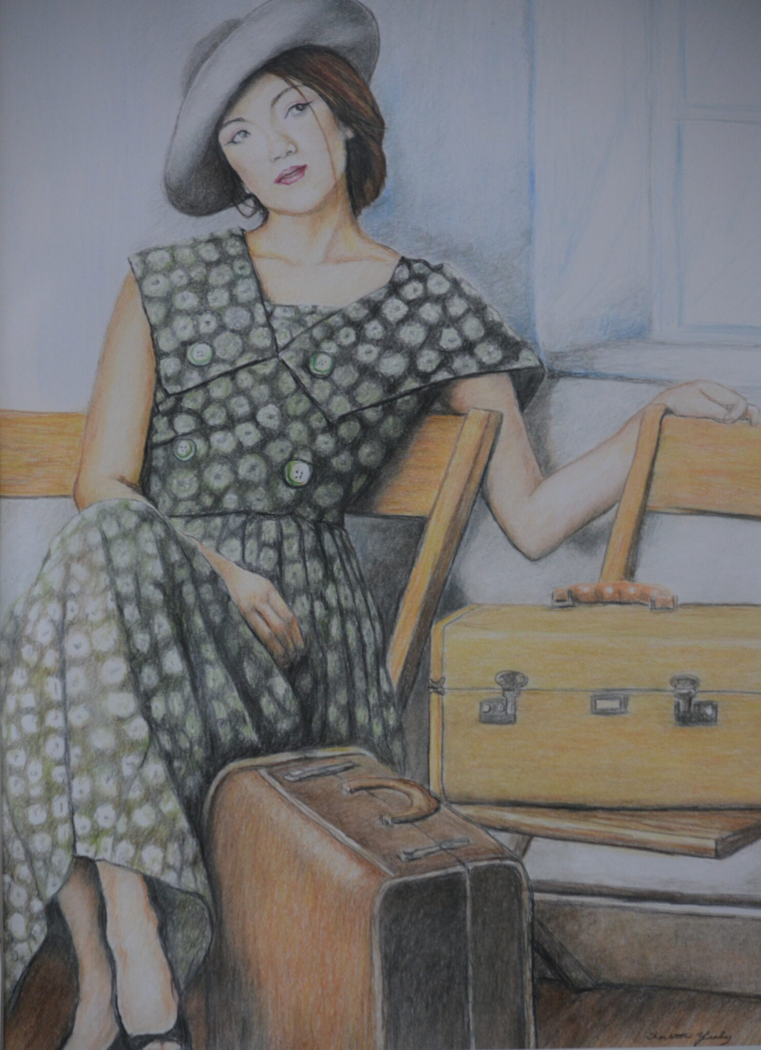 """Charlotte Yealey #39 """"Leaving Town"""" $250.00"""