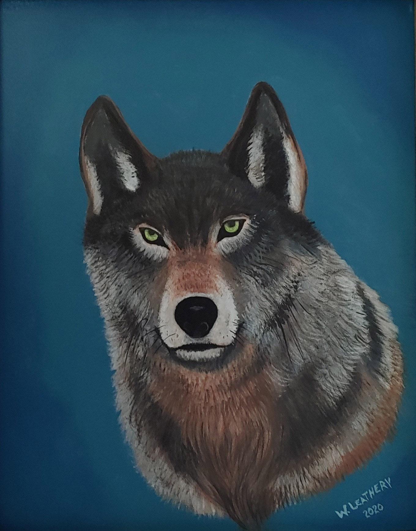 "Wade Leathery #72 ""Wolf"" $450.00"