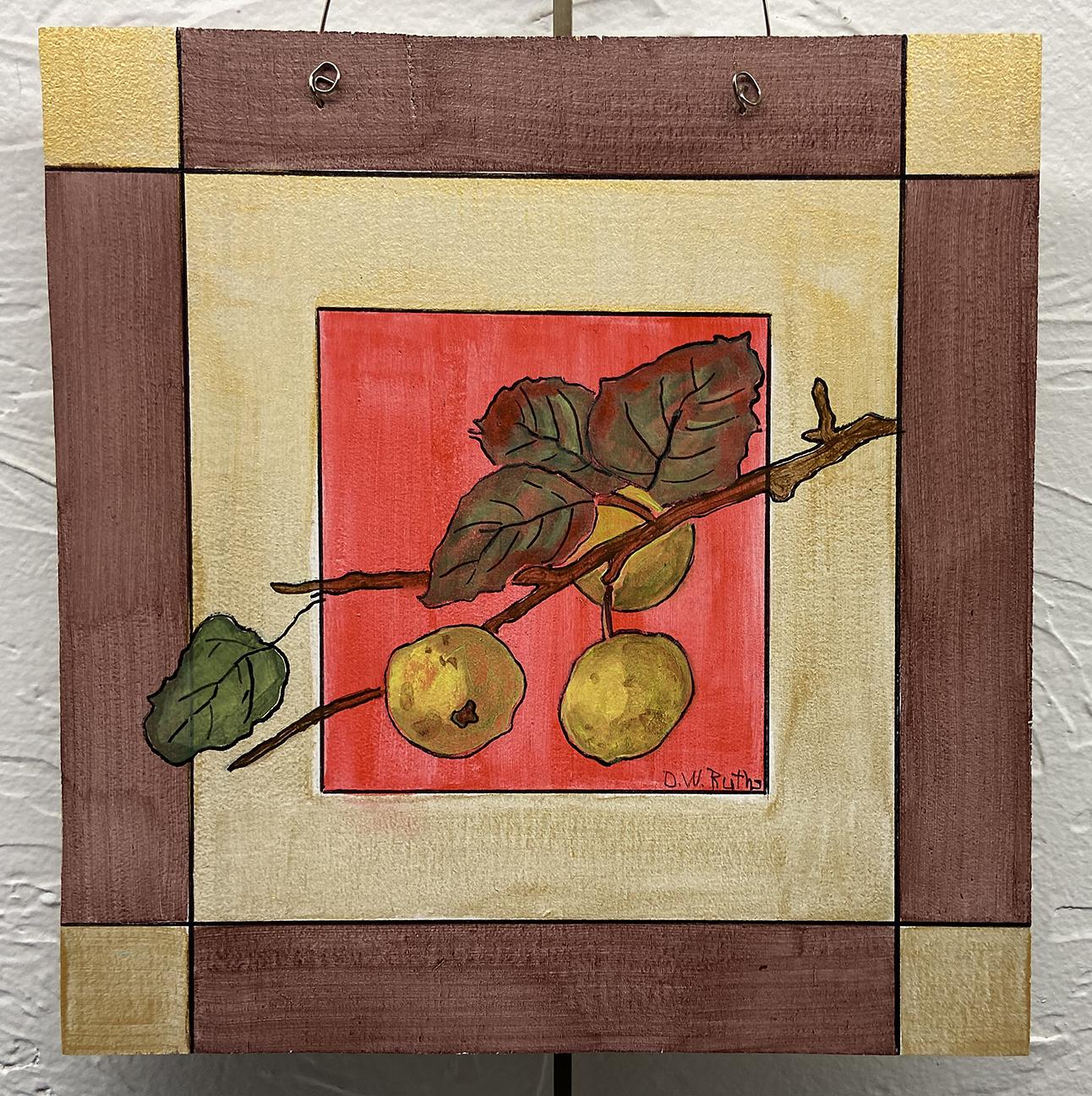 #9 Berries, Deb Ruths, Acrylic on Wood (8 x 8), $10.00 suggested minimum bid  (31 meals)