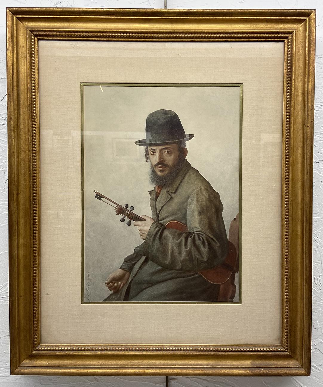 #2 Man with Violin, Jordan Kaufmann, Print (24 x 20), $20.00 suggested minimum bid  (63 meals)