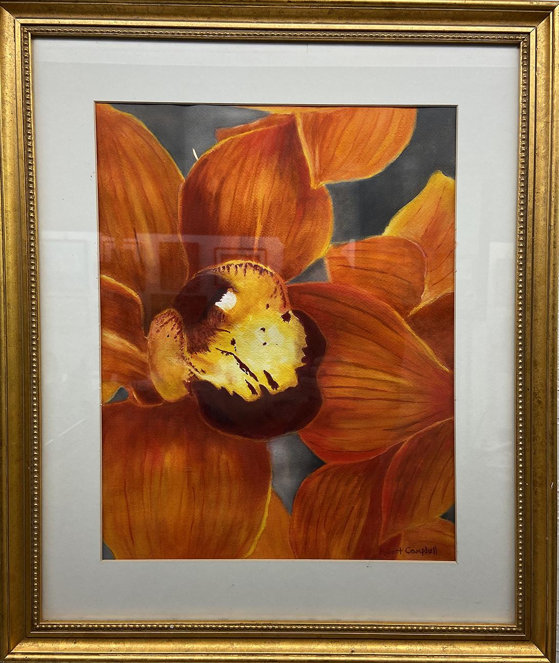 #1 Orange Splash, Rob Campbell,  Watercolor (22 x 18), $50.00 suggested minimum bid  (156 meals)