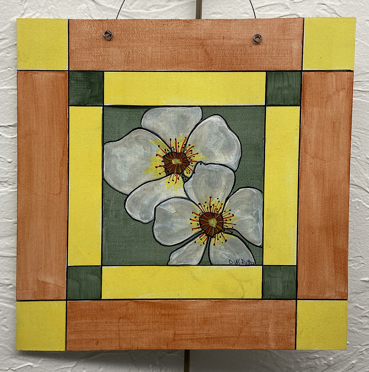#3 Pansies, Deb Ruths, Acrylic on Wood (10 x 10), $15.00 suggested minimum bid  (47 meals)