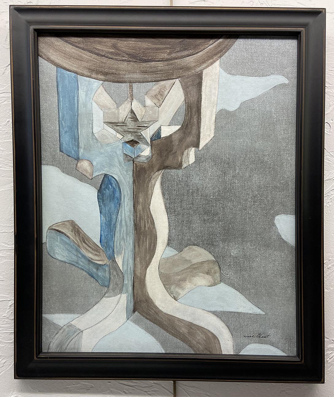 #13 Pedestal, Jane West, Acrylic (19 x 23), $35.00 suggested minimum bid  (109 meals)
