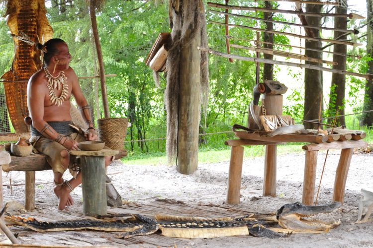 Native american village Boggy Creek Airboat Adventures Best airboat rides in Orlando