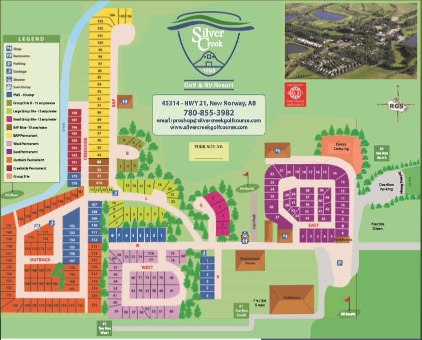 Silver Creek Golf & RV Resort Campground Map