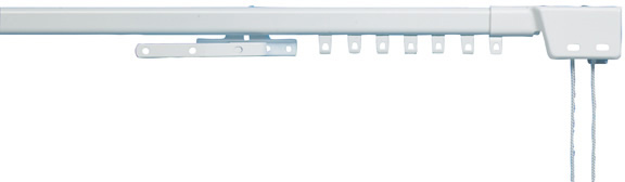Swanglide extendable corded curtain track