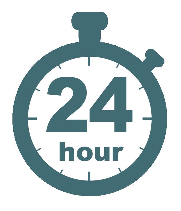 Twenty-four hour stopwatch