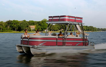 24' Premier Double Decker Pontoon Boat