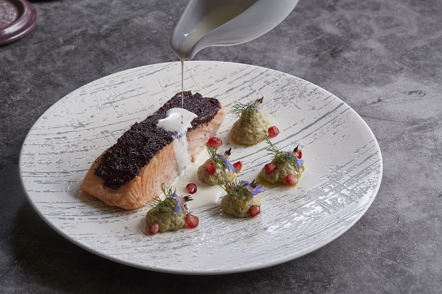 Salmon Fillet Confit in Olive Oil