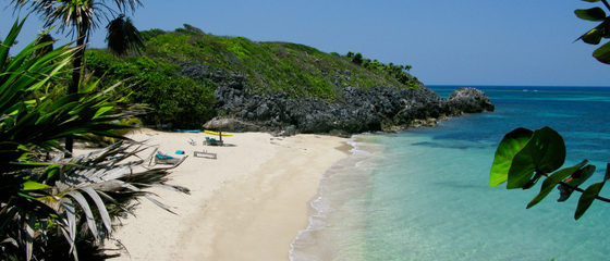 Pristine tine Beaches in Roatan Island