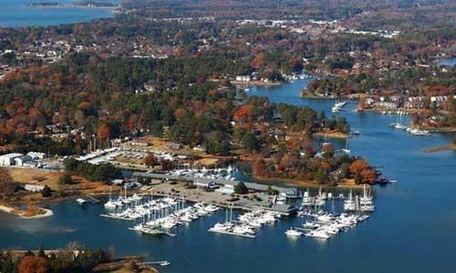 Gloucester County Virginia Aerial