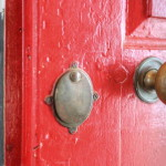 door knob detail in historic home