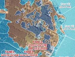 Flood zone map sample