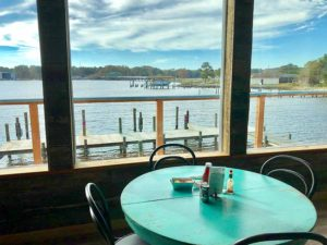 Window seat at the Hole in the Wall Restaurant