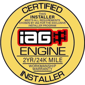 IAG CERTIFIED ENGINE INSTALLER LOGO