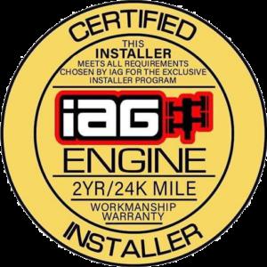 IAG CERTIFIED ENGINE INSTALLER LOGO