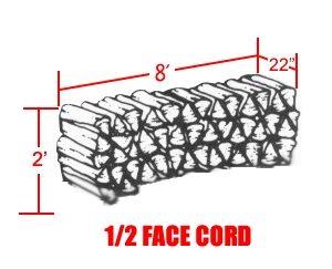 """half face cord 22"""""""