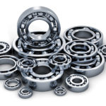 industry, manufacturing and engineering concept bearings