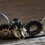 Metallic Gears and Cogwheels