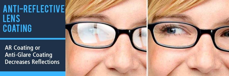 Anti-Reflective Glare Coating on Eyeglass Comparison