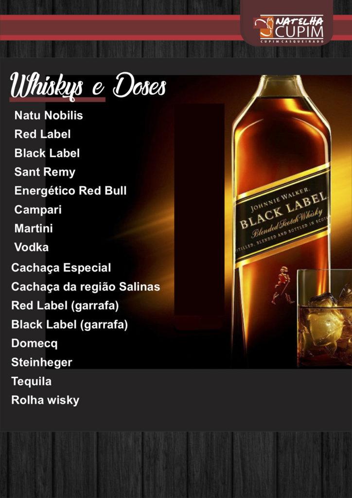 Cardápio- Whiskys e Doses