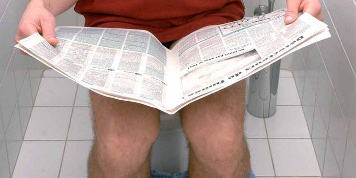 Reading on the toilet