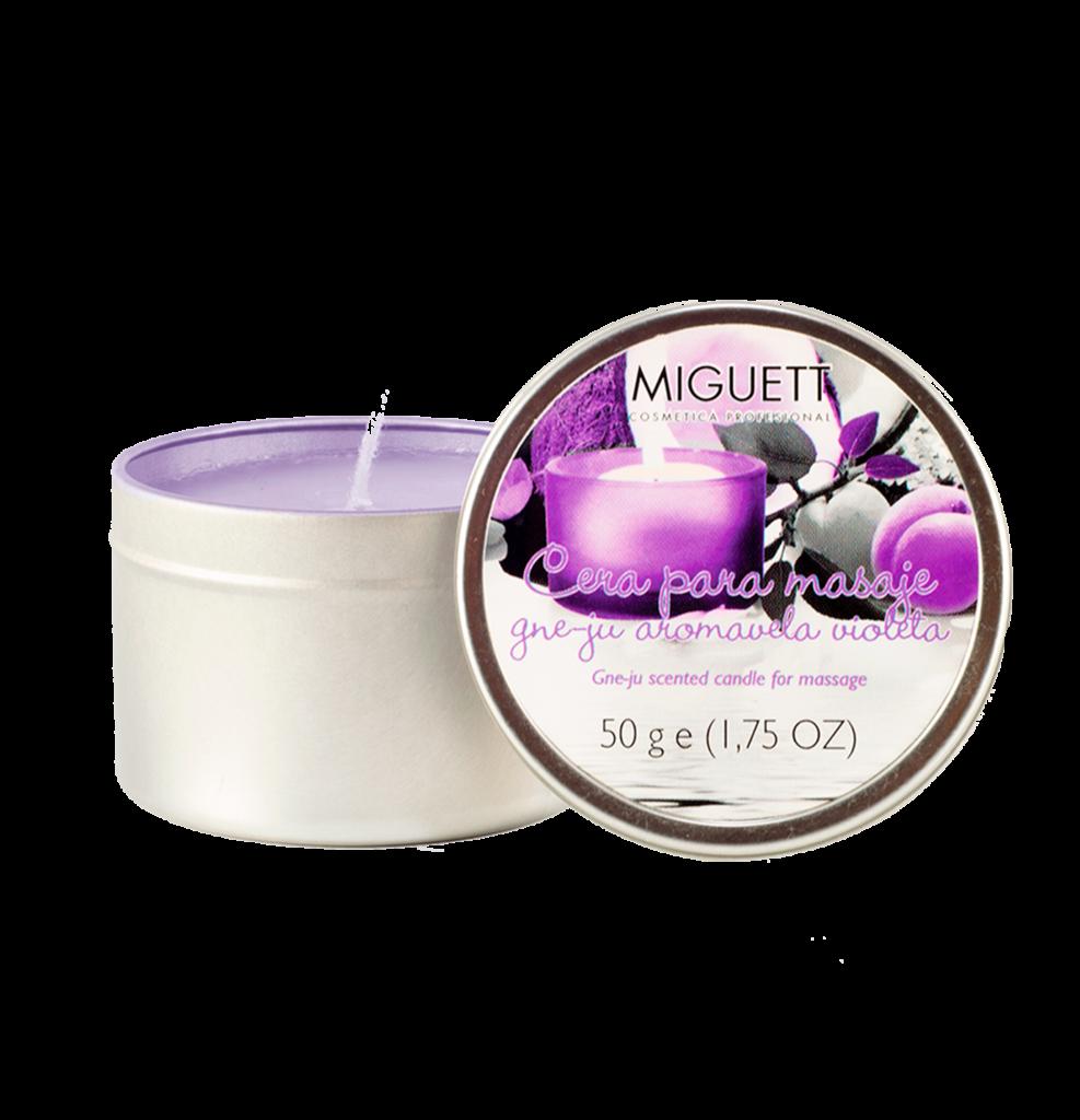 Aromavela Violeta (aceite caliente para masaje)