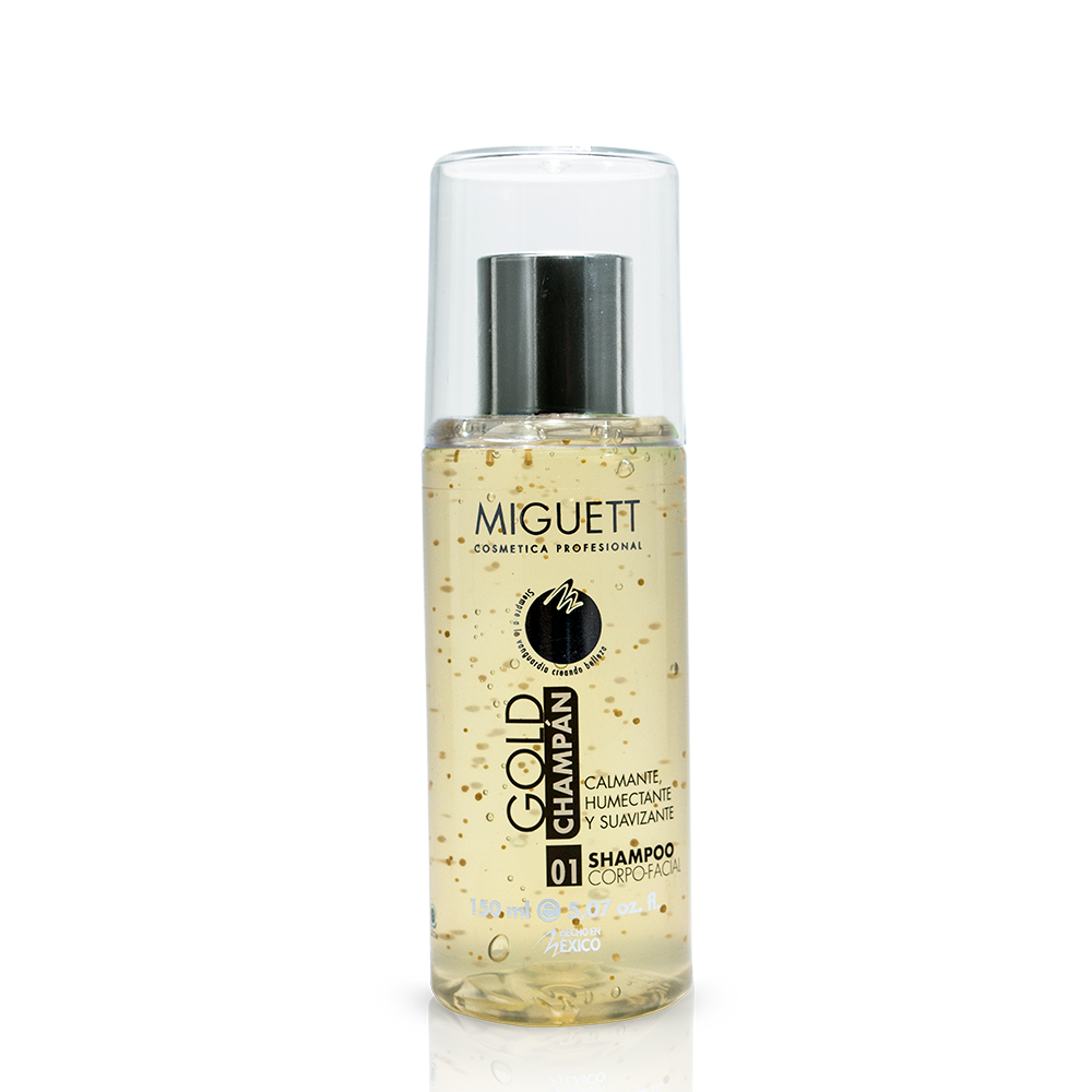 Shampoo Gold - Champán Deluxe con esferas vitaminadas