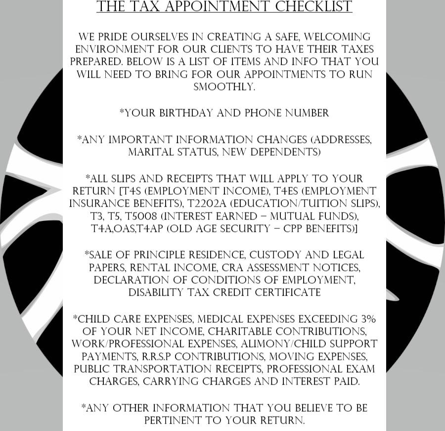 TaxChecklist