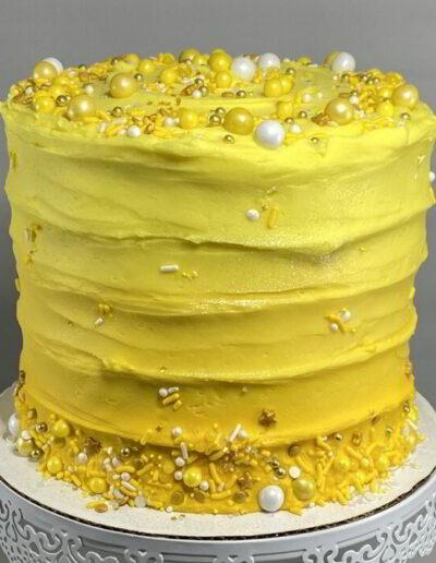 "Lg Swirl Yellow Ombre 6"" Cake"
