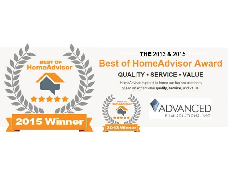 2013 & 2015 Best of HomeAdvisor Award Winner