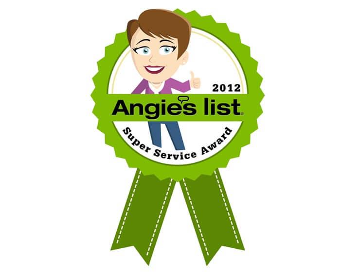 2012 Angie's List Super Service Award Winner